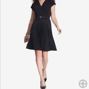 Alfani short sleeve pleated dress with belt